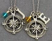 Best Friends Compass Necklaces | Best Friend Gift | Personalized Jewelry | Best Friend Jewelry | Gift for Best Friend | Best Friend Necklace