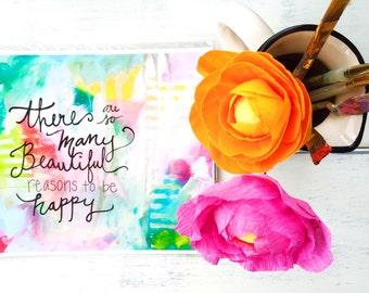 """Mixed Media Art Print: """"Reasons to be Happy"""""""