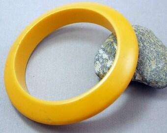Bakelite Bracelet Bangle Vintage Bakelite Eggyolk Yellow Bakelite Bangle Bracelet
