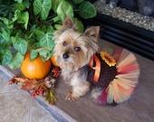 Dog Fall Sunflower TuTu Dress Hair bow included Ready to ship