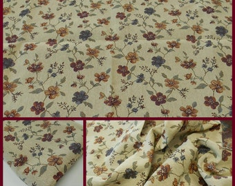 Tapestry Fabric- Upholstery Fabric- Floral Tapestry Fabric- pc 56x33 inches- Remnant