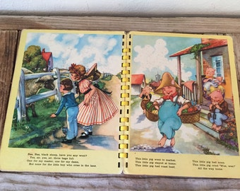 Vintage Children's Book titled My Favorite Mother Goose Rhymes