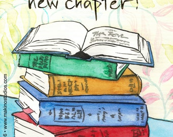 209. new chapter - book lover card - set of any six designs