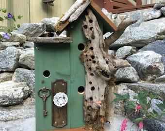 40% OFF! SALE!  Large Condo Birdhouse/Bird House/Post-Mount-Birdhouse/Birdhouses For Sale,Item #281636228