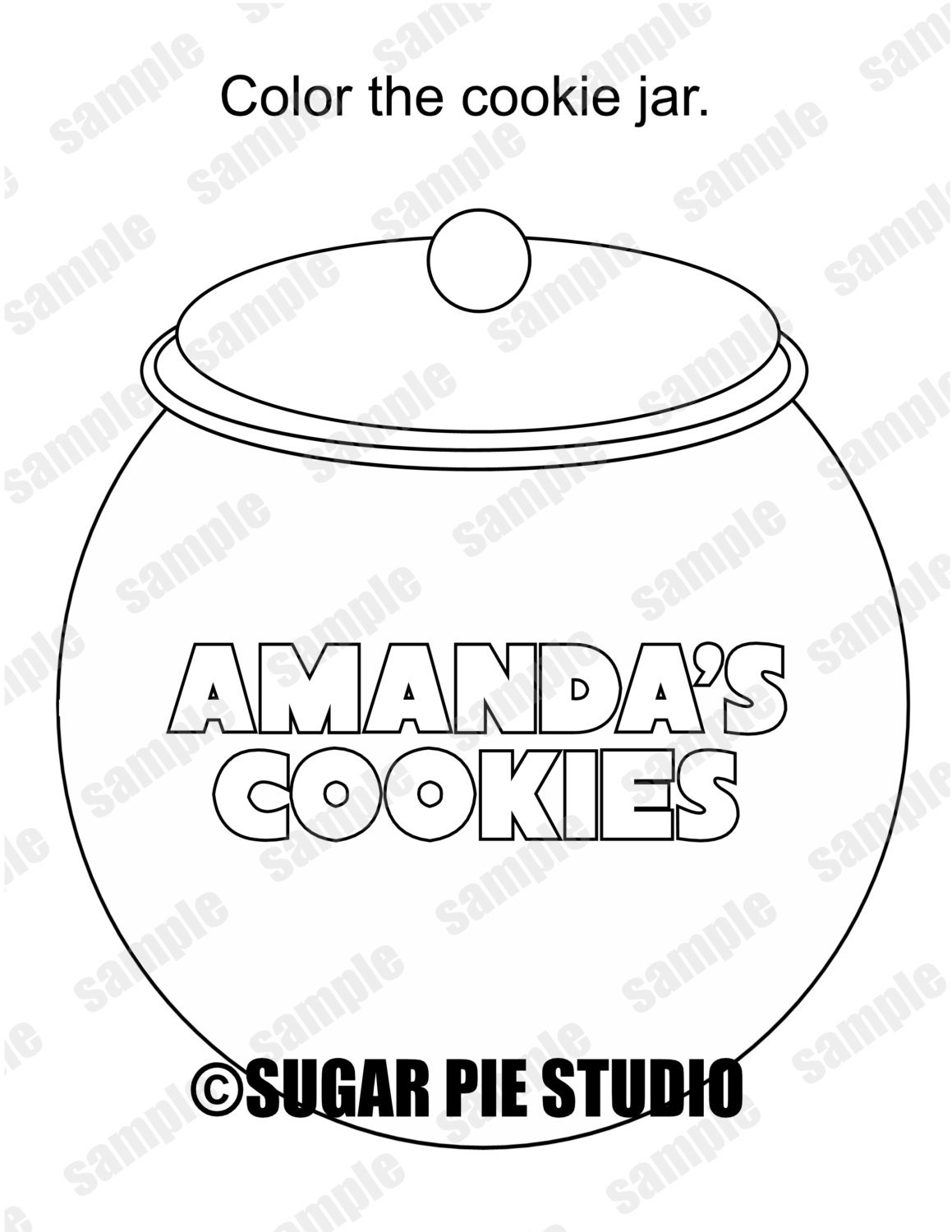 cookie jar coloring template coloring pages