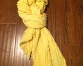 Hemp/Silk Crepe Scarf-  yellow
