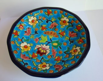 Old French Faience Longwy Tidy