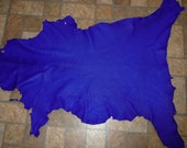 """Leather 6 sq ft Electric Blue Cationic Goatskin Hide 36""""x22"""" 2.25-2.75 oz / .9-1.1 mm PeggySueAlso #405"""