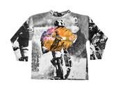 Extreme 90s Motocross Allover Print 3/4 Sleeve Shirt - M