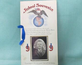 Vintage School Souvenir 1919 Twin Mounds School Dist. 25 Tulsa County Oklahoma
