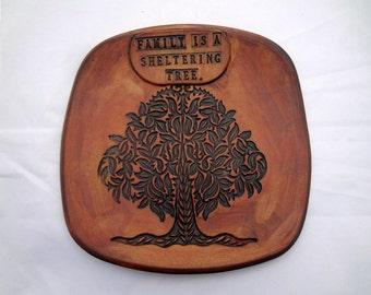 Personalized Family Tree Plate, Custom Wedding Plate, Ceramic Family Tree Dish, Personalized Wedding Dish, Family Tree Pottery, Wedding Dish