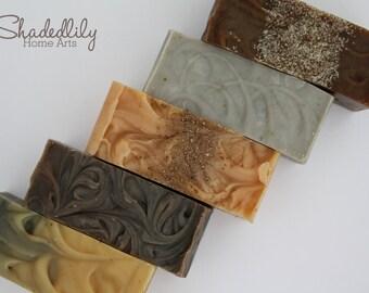 Soap set gift, man soap set, soaps for men, men's soap gift, spa soap set gift, green, orange, white