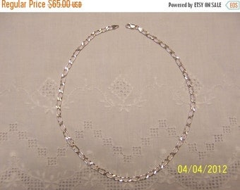 CLEARANCE SALE Vintage Diamond Cut Chain. Sterling Silver.