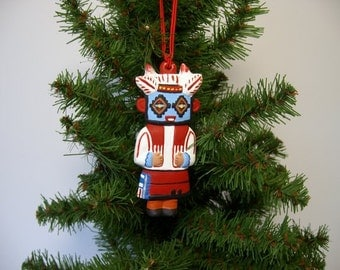 Ornament, ceramic ornament, Southwestern ornament, American Indian, Kachina ornament, Christmas tree ornament