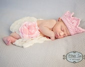 Crochet baby tiara 0 to 3 mos - an adorable baby shower gift, available now