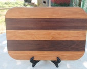 Cherry and Walnut Hardwood Cutting Board or Carving Board