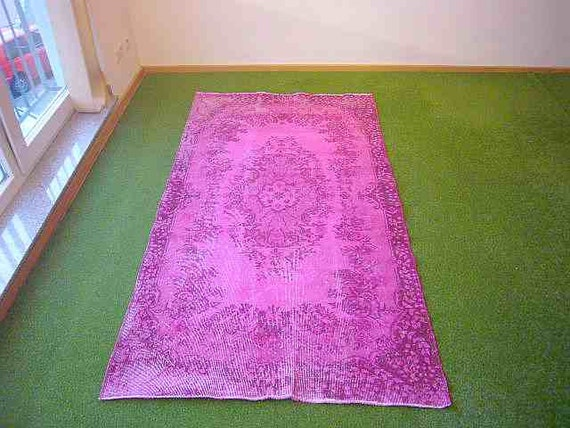 vintage rug pink 16 ft 115x212 cm. Black Bedroom Furniture Sets. Home Design Ideas