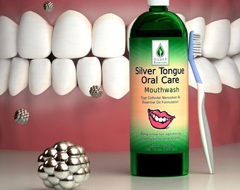 Silver Botanicals' Silver Tongue Oral Care, All-Natural Colloidal Silver & Essential Oils Mouthwash