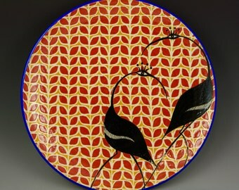 Dinner Plate with Cranes