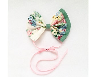 Headband // Vintage Floral Ribbon Headband // Flower // Headband // Ribbon Bow