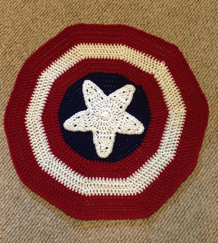 Captain America Inspired Blanket / Super Hero / Crochet ...