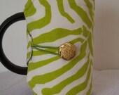 Lime Zebra Stripe Coffee Pot Cozy, Bodum 8 Cup Press Pot Cosy, Hot Pot Sleeve Cozie