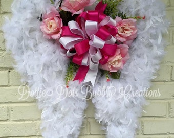 Feather Angel Wing Wreath