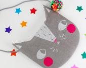 Kids Cat Purse - Screen Printed Bag
