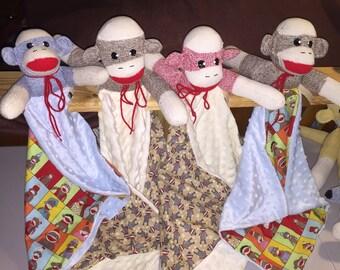 Handcrafted Sock Monkey Lovey