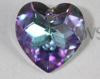 1 piece Genuine Swarovski ELEMENT 6215 18mm Fancy HEART Pendant - Crystal Vitrail Light ( VL )