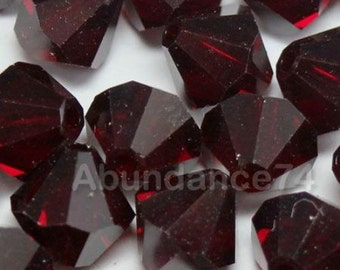 Swarovski Crystal Beads BICONE 5328 5301 crystal beads GARNET - Available in 3mm, 4mm and 6m