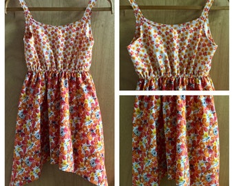 Boho/Hippie Gypsy Style  Cotton Sundress, girls size 10