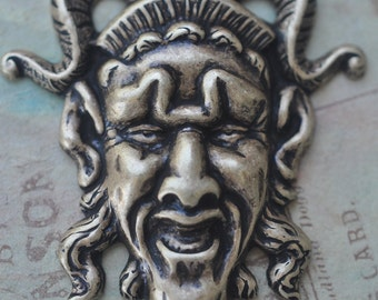 Creepy Devil Brass Stamping, Brass ox