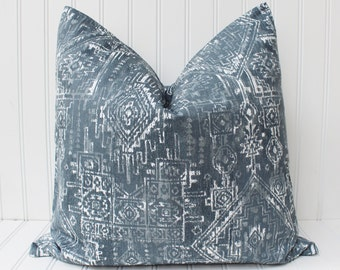 Gray Boho Pillow Cover, Throw Pillow, Decorative Pillow, cushions, Aztec, Native American, Accent Pillow, Gray Pillow