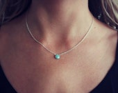 Sterling silver gemstone necklace, Amazonite necklace, silver necklace, meaningful jewelry, best friend gift, gift for her