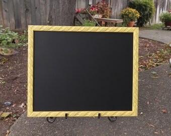 Large 16 x 20 Yellow Framed Shabby Chic Chalkboard/Blackboard, Made to Order Chalkboard, Wedding Chalkboard
