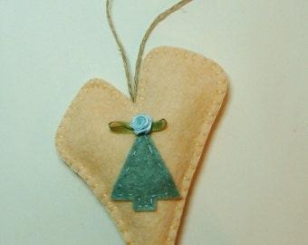 Ornament Kit Wool Felt Blend-Simple Beginner Hand Sewing & Applique