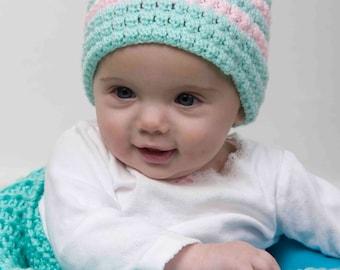 Sherbet Baby Hat - Crochet Pattern
