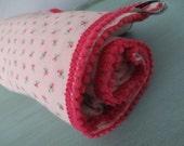 Swaddle Flannel Infant Blanket Girl Pink Bedding Pom Poms Nursing Cover Carseat Rose Pink