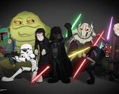 Star Wars Baddies - Art Print