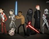 Star Wars Episode VII - Art Print