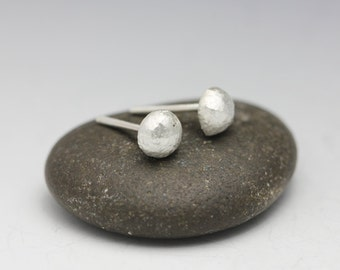 Organic Sterling Studs, Silver Earrings, Modern, Silver Studs, Recycled Sterling