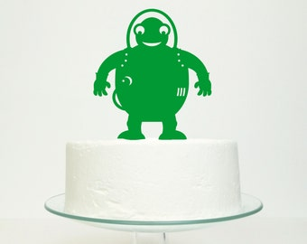Alien Martian Cake Topper - Childrens Party Colorful Creature Extra-Terrestrial Decoration