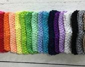 "Baby Headband - Crochet Headbands - Stretch Crochet Baby Headbands - Choose 2 - 1.5"" Stretch Crochet Headbands - Baby Headbands"