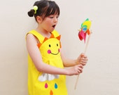 Hello Sunshine yellow dress for girls and babies