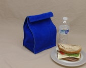Leather Lunch Bag - Royal Blue -    It's fun, it's leather, it's a great conversation starter.