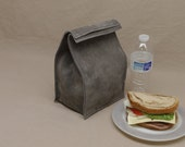 Leather Lunch Bag - Gray -    It's fun, it's leather, it's a great conversation starter.