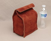 Leather Lunch Bag - Rust Brown - It's fun, it's leather, it's a great conversation starter.