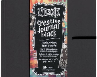 Dyan Reaveley Dylusions Black Creative Square Journal