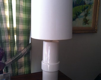 White Table Lamp -  Large